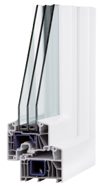 Fenster Heilbronn CARAT A82 3-Fachverglasung